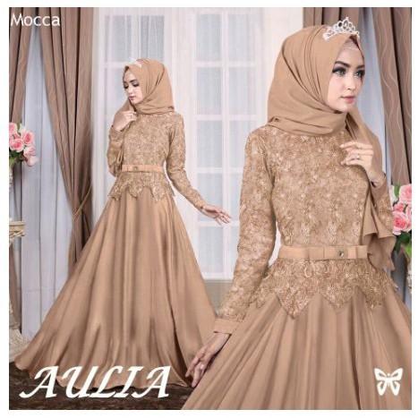 Promo Baju Muslim Wanita Gamis Syari Baju Gamis Brokat Kombinasi Model Terbaru Pesta Terbaik Shopee Indonesia