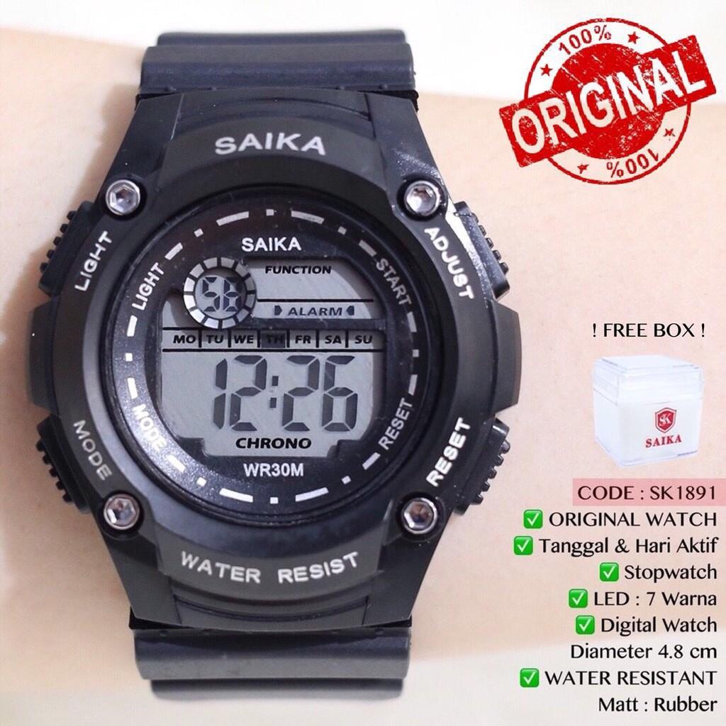 12.12 FLASH SALE TERLARIS Jam tangan SAIKA ORIGINAL WATCH Pria Wanita Tahan  air FREE BOX SK1891 2de0c3c6e7