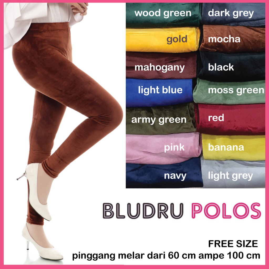 Bludru Polos Wanita Celana Legging Bludru Polos A121 Shopee Indonesia