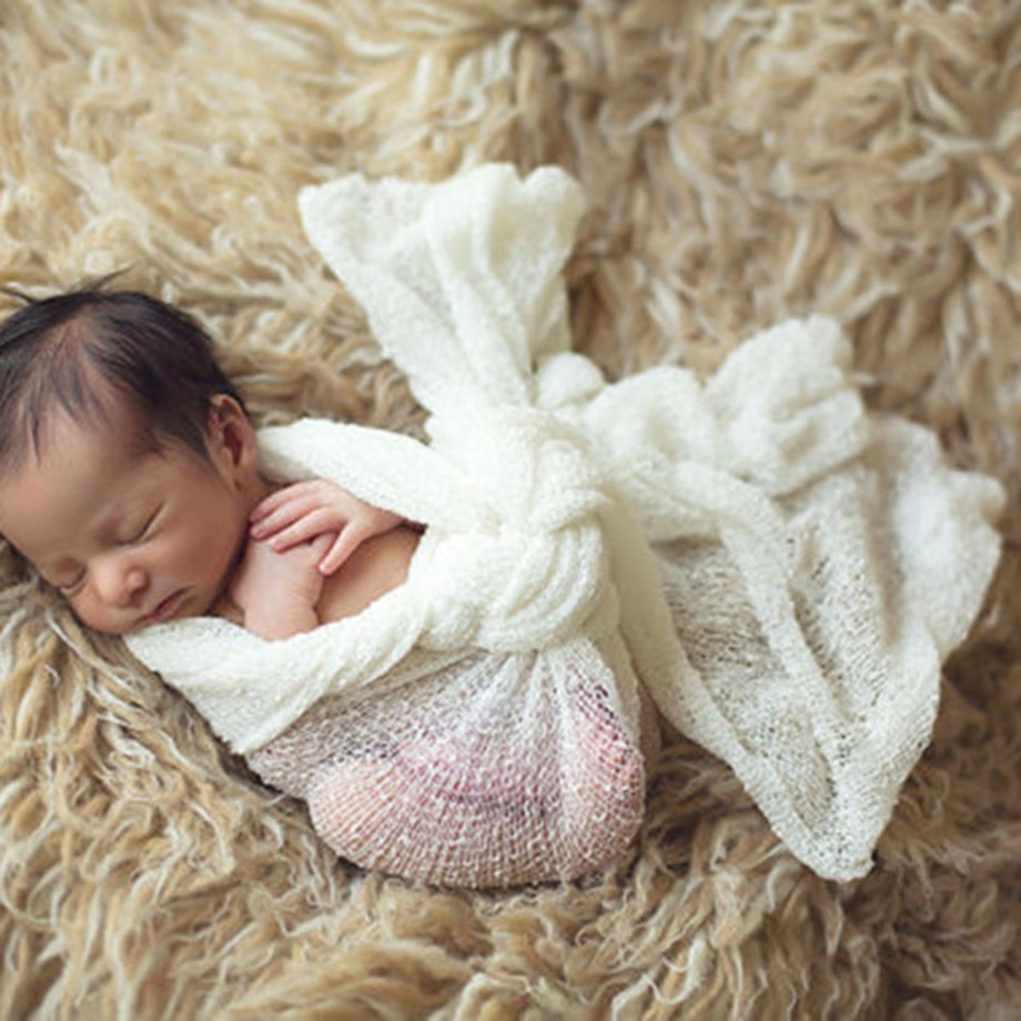 Newborn Baby Photography Props Blanket Rayon Stretch Knit Wraps 40*150cm sD