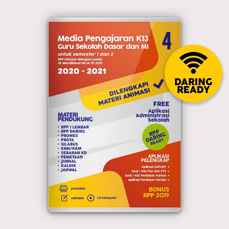 Cd Rpp Daring 1 Lembar Sd Mi Kelas 4 K13 Revisi Terbaru 2 Semester Dilengkapi Media Animasi Shopee Indonesia
