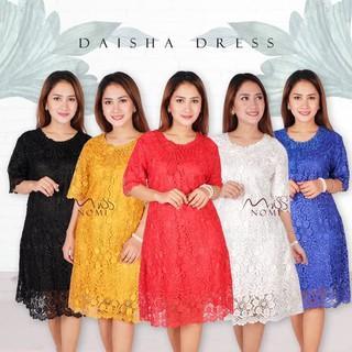 Kualitas Bagus Daisha Dress Pesta Full Brokat Gaun Pesta Natal