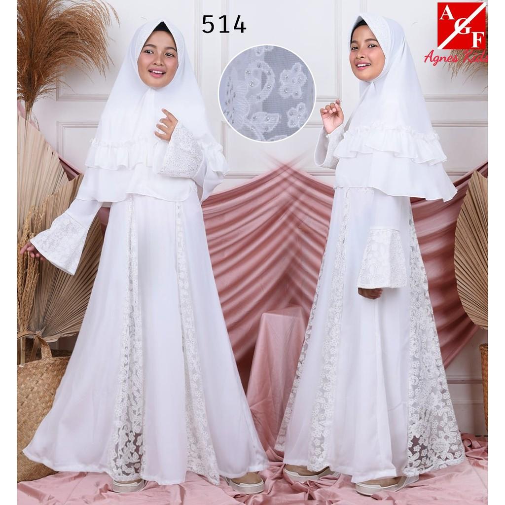 Baju Muslim Anak / Gamis Putih Anak / Baju Syari Putih / Gamis Umroh Anak /  Baju Lebaran Anak #8