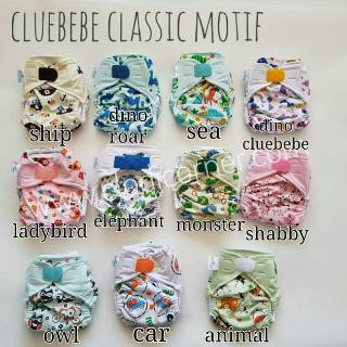 Pokado Popok Kain Cuci Ulang Velcrow Cloth Diapers Motif Retro