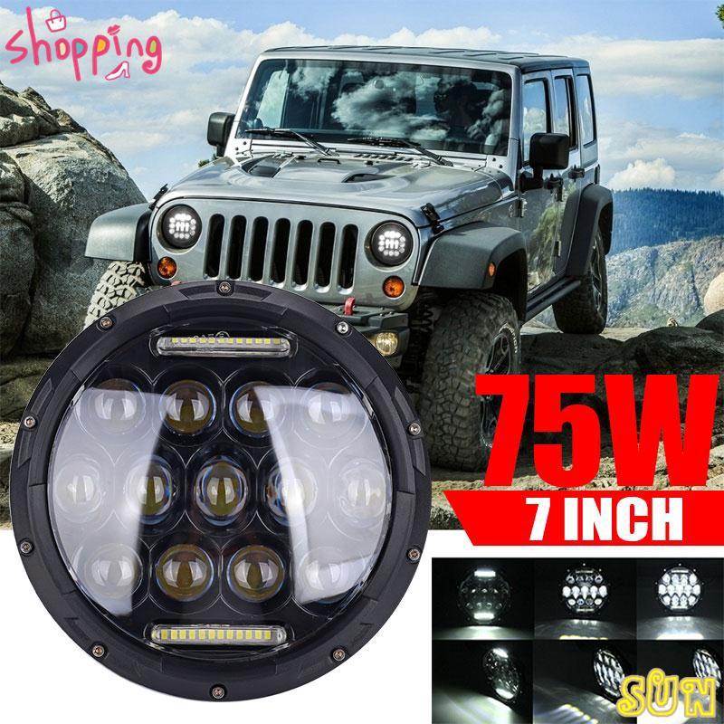 Jeep Wrangler Led Headlights >> Sun Jeep Jk Jk Wrangler Wrangler Lampu Led Headlight Angel Eyes 45w High Power