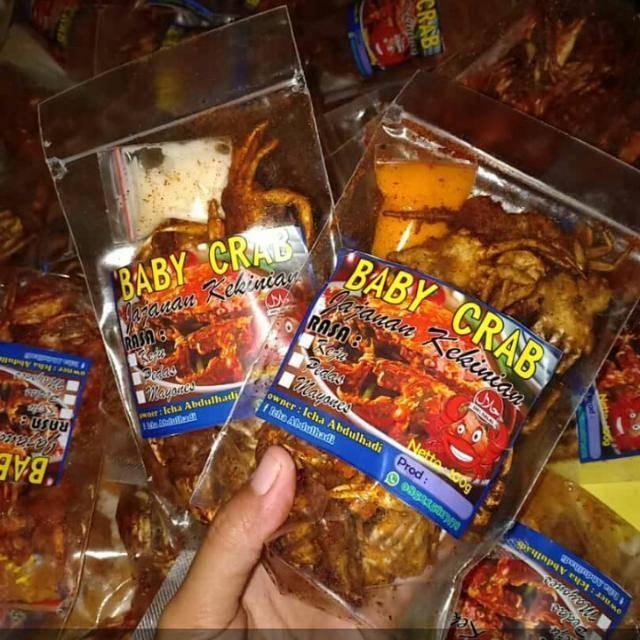 Baby Crab Pedas Cemilan Kekinian Best Seller Shopee Indonesia