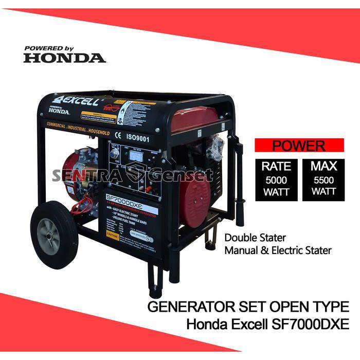 Generator / Genset / Genset Honda 5000 Watt. Honda Excell Sf7000Dxs