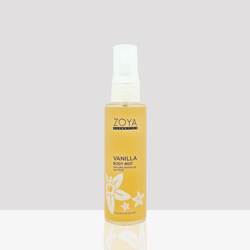 Zoya Cosmetics Body Mist Vanilla 60 Ml Shopee Indonesia Ultramoisse Lip Strawbeery Ice 04