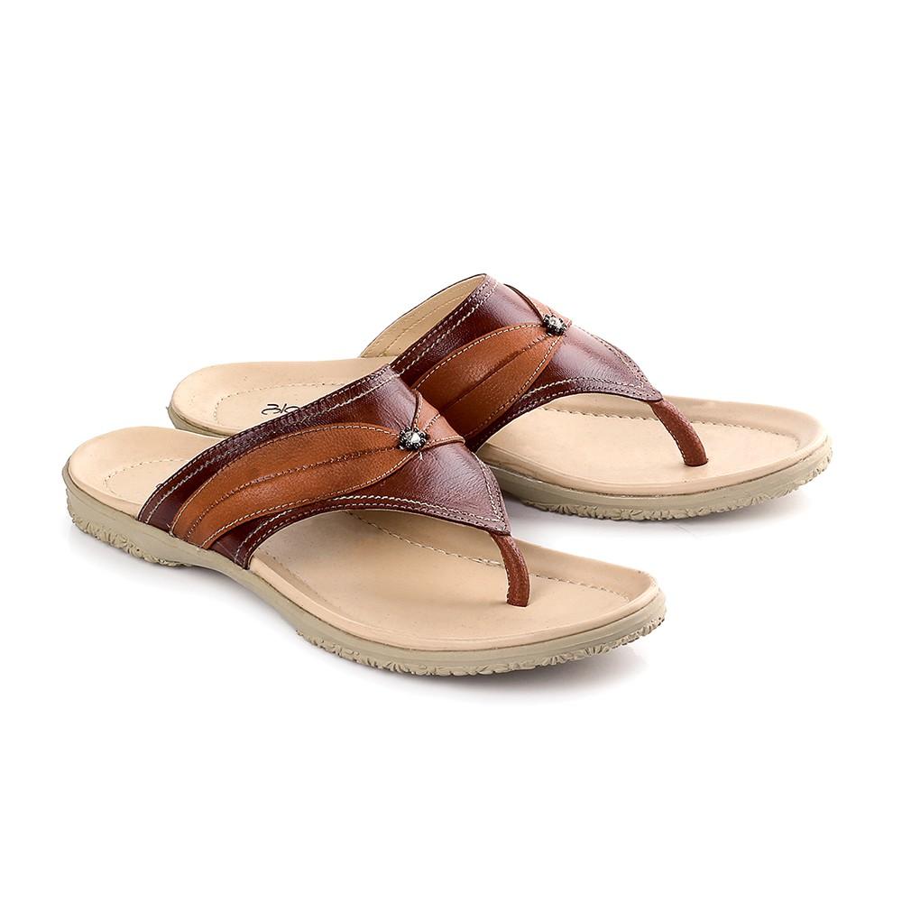 Sandal Flat Wanita Bahan Kulit Warna LJH 805 Merek Blackkelly Bandung | Shopee Indonesia