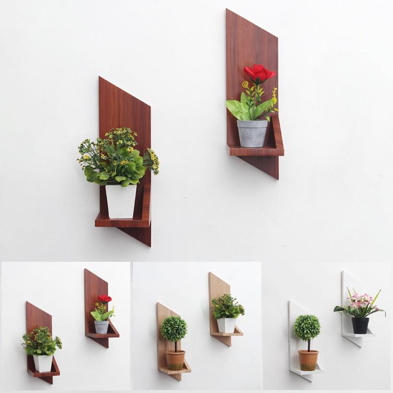 Set 2 Pcs Rak Bunga Unik Hiasan Dinding dari Kayu Model ...