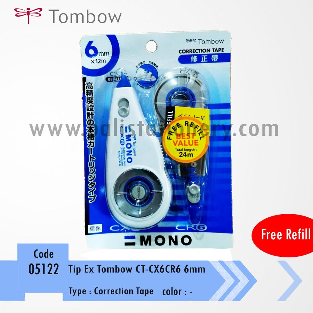 TOMBOW MONO CORRECTION TAPE CT-CF5 (5 MM X 8 M) / TIP-EX KERING BENTUK PITA ROLL | Shopee Indonesia