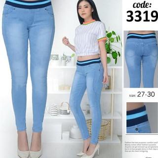 Rb0r Celana Legging Wanita Celana Jeans Leging Celana Levis Cewek Pdnita Hitam 27 Glrt Shopee Indonesia