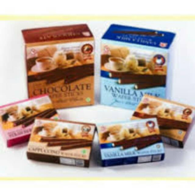 Kugi Vanilla Wafer Stick dan Chocolate Wafer Stick 2 packs
