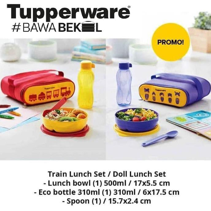 Tupperware Fancy Crystalwave Crystal Wave Lunch Set Tempat Makan Tas | Shopee Indonesia
