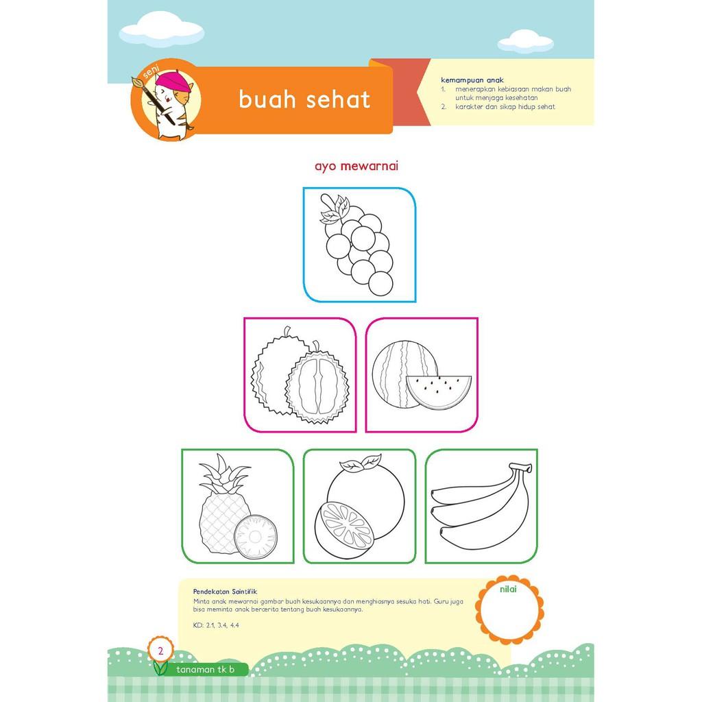 Buku PAUD TK Tematik K13 Kelompok B Tema Tanaman