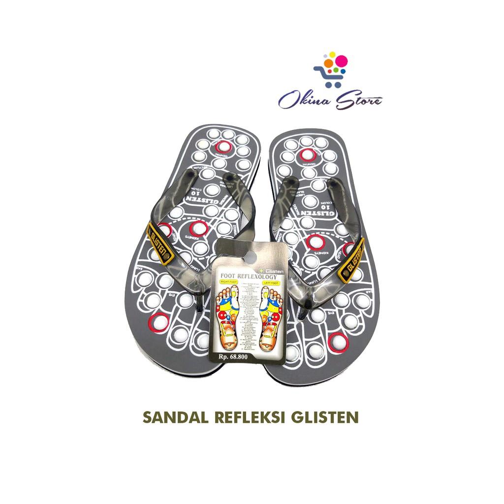 Sandal Kesehatan Rematik Refleksi Glisten Swiss Shopee Indonesia Sendal