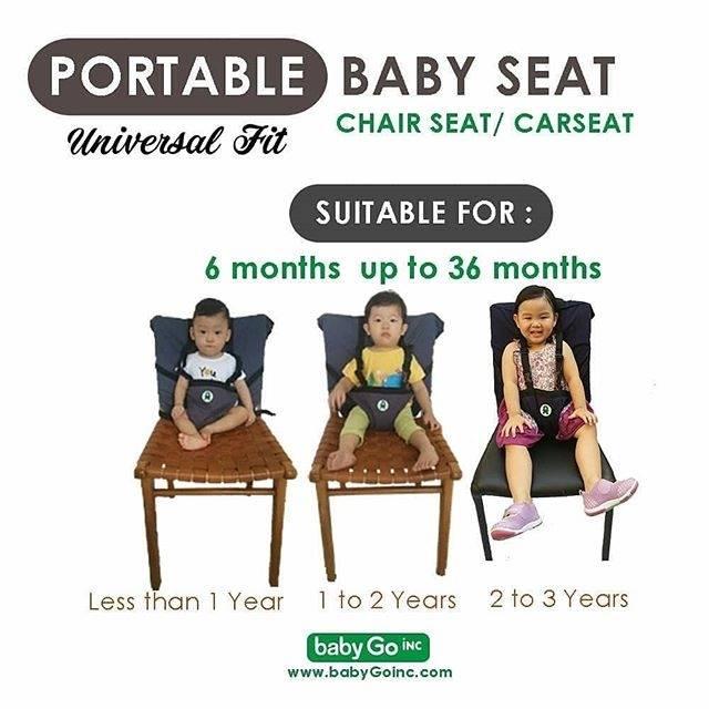 Pengaman Duduk Bayi Universal Kursi BABY LEON /Portable Baby safety chair cover sack n seat BLUE | Shopee Indonesia