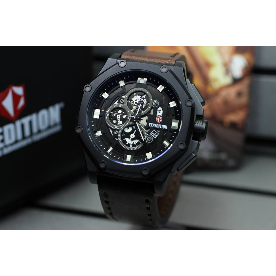 Jam Tangan Pria Expedition 6698 Full Black Original Shopee Indonesia 6713 Automatic Balck