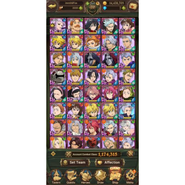 Akun 7DS Global / ID The Seven Deadly Sins