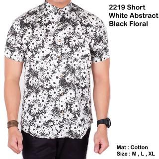 Shopee Pakaian Pria Kemeja Kemeja Batik Brotherholicstore Kemeja pria lengan pendek hitam kombinasi batik songket slimfit. habis
