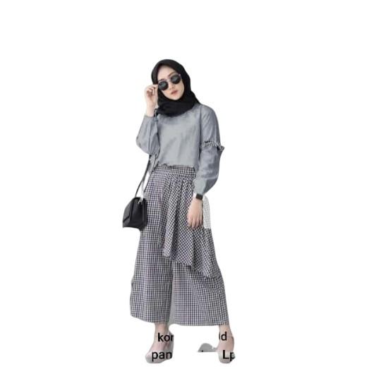 "NISA SABYAN""Baju Setelan Wanita Terbaru Azalea Set"