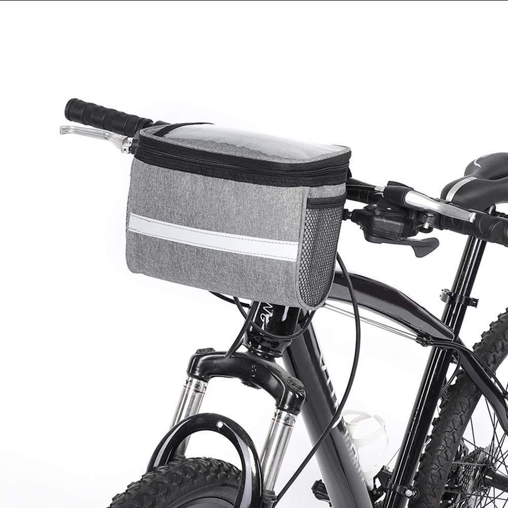 Bike Bicycle Cycling Handlebar Bag Front Frame Tube Pouch Basket Pannier Outdoor