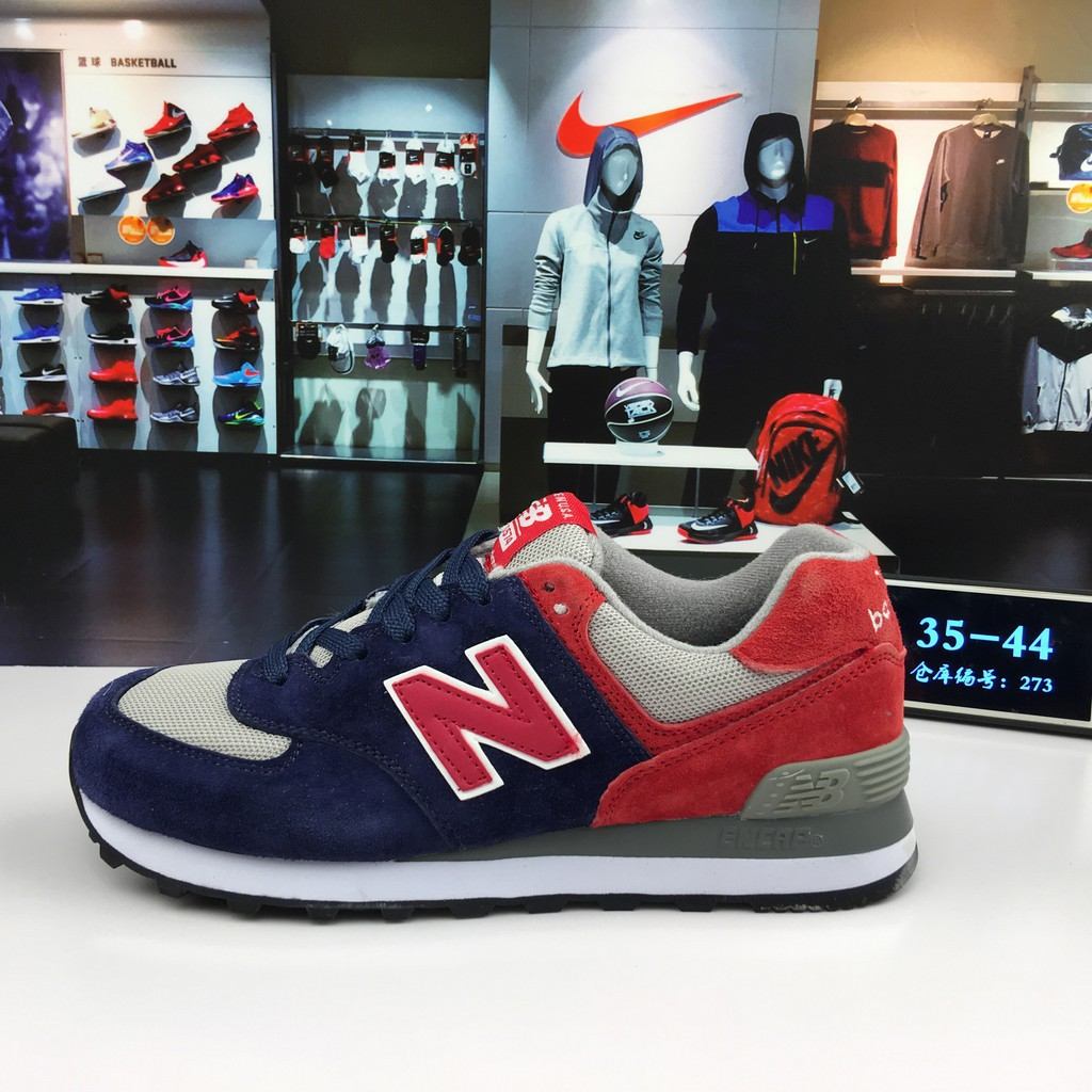 aguacero Encantador jurar  authentic new balance 574 NB574 blue red running shoe for men women sports  shoes casual shoes size 36-44   Shopee Indonesia