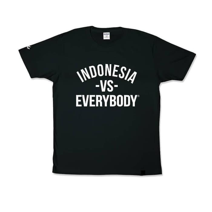 Baju Tshirt Kaos Tshirt Indonesia Vs Everybody Indonesia Vs Everybody Custom Ka Shopee Indonesia