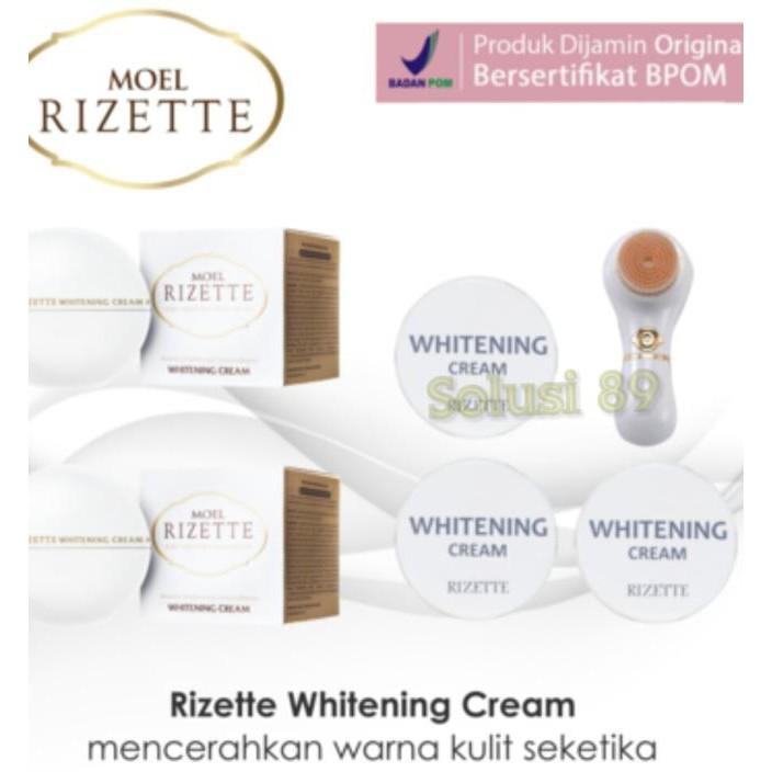 Termurah Cream Pemutih Wajah MOEL RIZETTE WHITENING CREAM Murah Promo | Shopee Indonesia