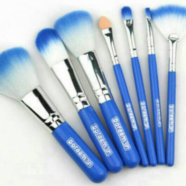 DORAEMON BRUSH KALENG 7 in 1 / make up brush / kuas doraemon | Shopee Indonesia