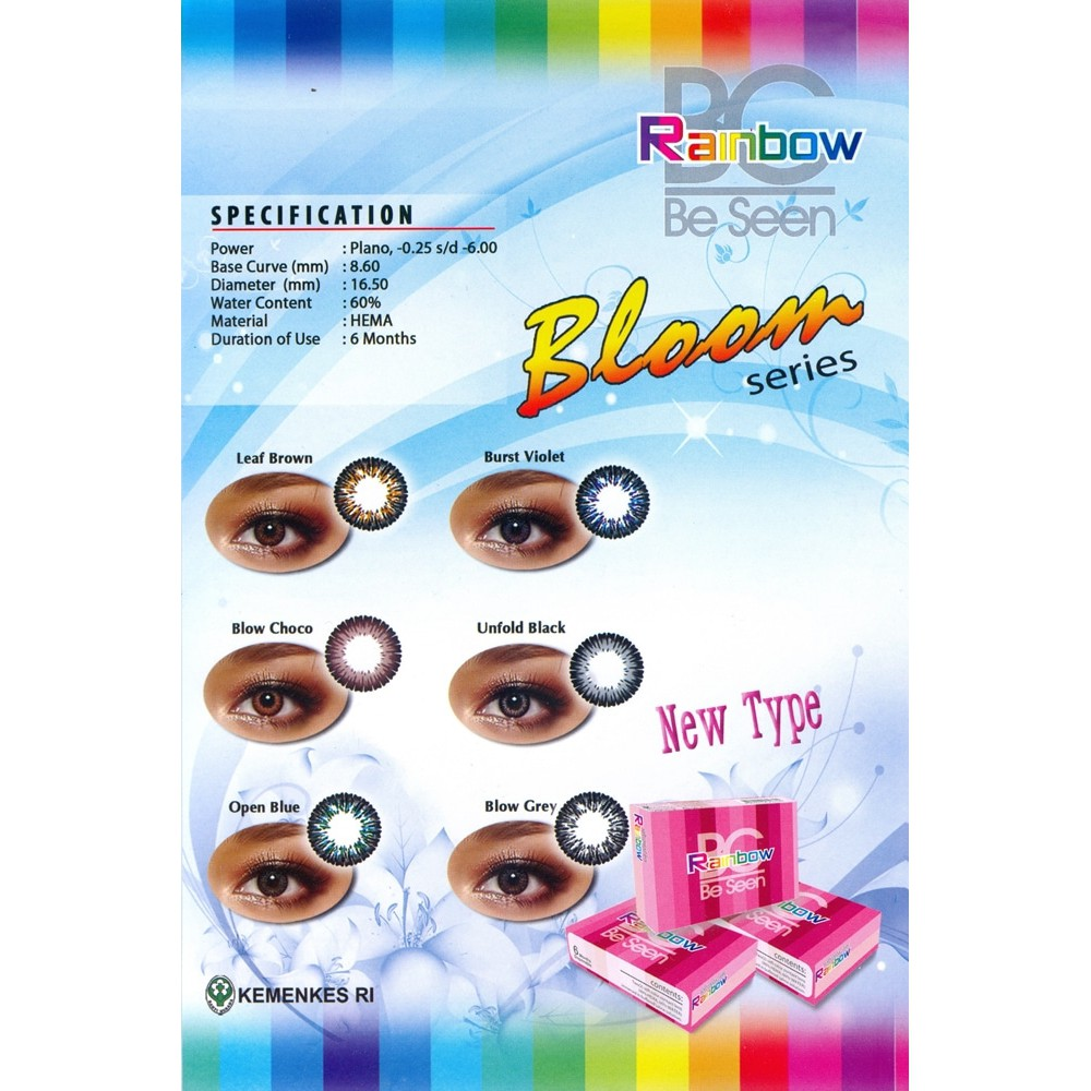 Gudang 1 Softlens Bc Rainbow Bloom Shopee Indonesia Cairan A Rub Ampamp Rew Tetes Mata