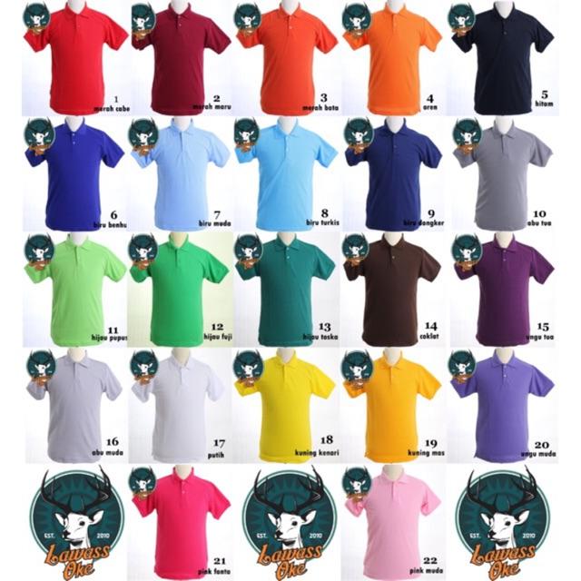 Kaos Polo Polos Pria Baju Berkerah Murah Berkualitas Poloshirt Kaos Kerah Unisex Polo Shirt Shopee Indonesia