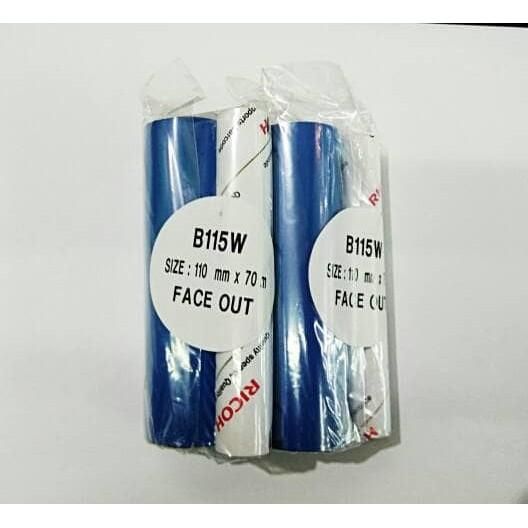 RICOH B115W 110mm X 70m Ribbon/Pita Label Barcode Printer