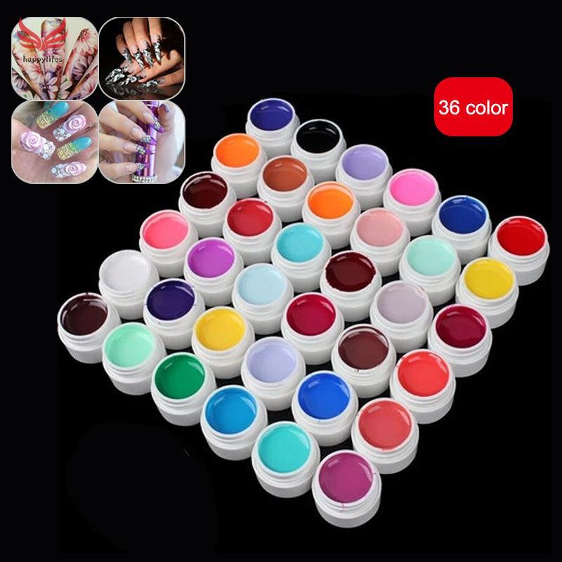 Model Kuku Nail Art: Set Cat Kuku Gel UV 36 Warna Untuk Nail Art