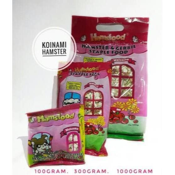 Makanan Hamster Pakan Hamster Gerbil Hamsfood 300 Gram   Shopee Indonesia