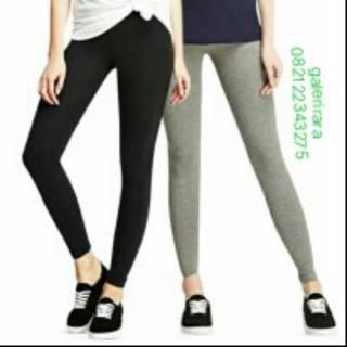 Celana Legging Panjang Wanita Bahan Kaos Rayon Shopee Indonesia