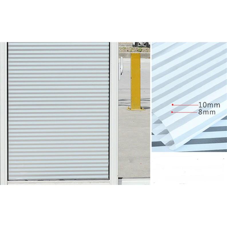 Stiker Kaca Motif Jendela Pintu Window Garis Garis Putih Uk 45x100cm Shopee Indonesia