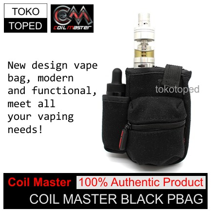 Bagus Authentic Coil Master Pbag | Black | Vapor Bag Tas Rda Vaporizer | Shopee Indonesia