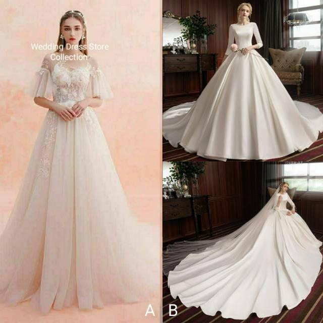 Toko Online Wedding Dress Store Shopee Indonesia