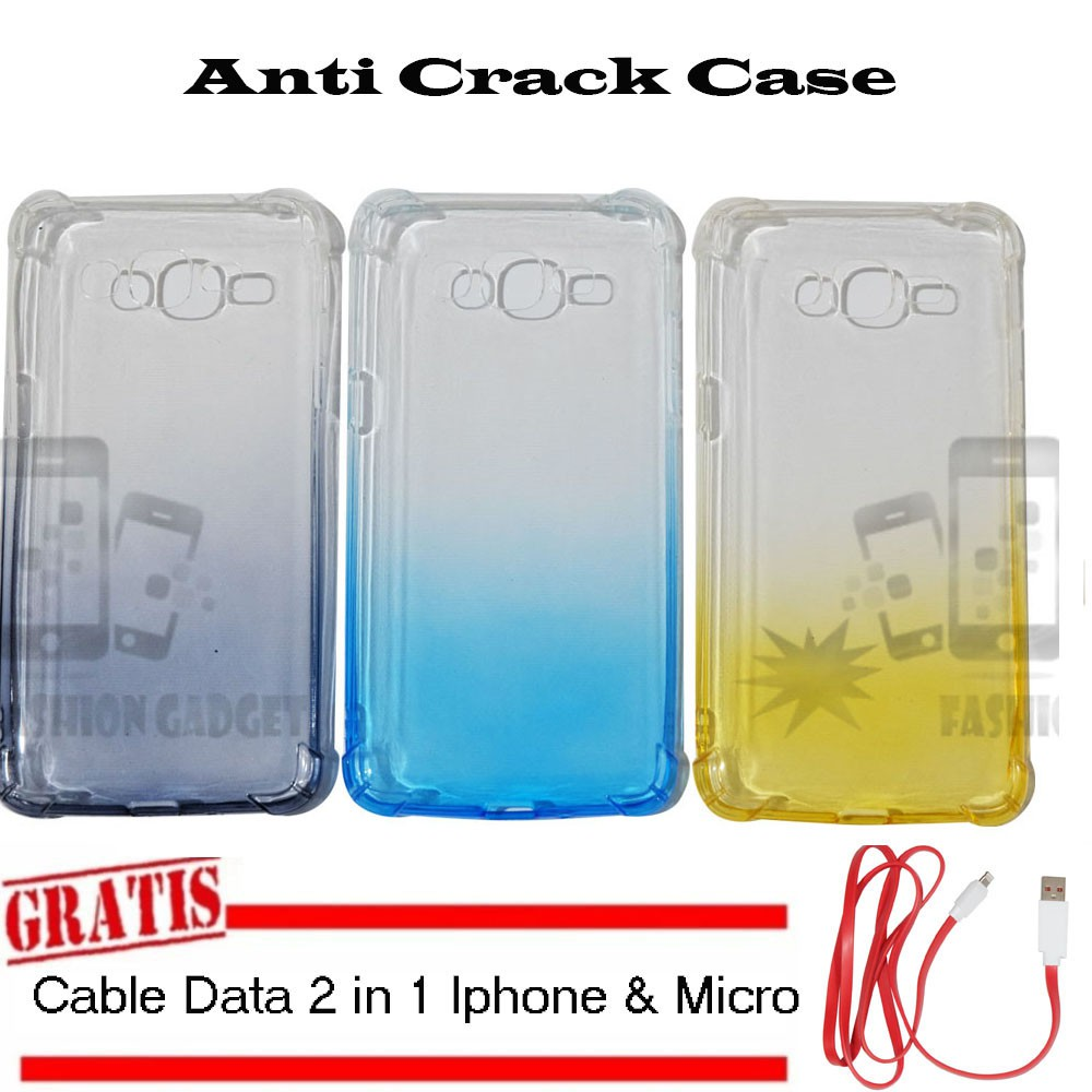 Anti Crack Case Vivo V5 +FREE Kabel 2 in 1 Iphone & Micro Softcase Casing Softshell | Shopee Indonesia