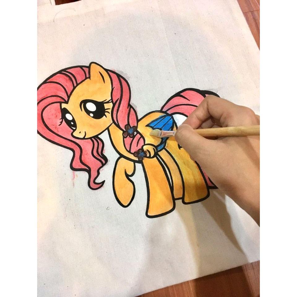 Little Pony Tas Kuda Poni Anak Tas Anak Tas Kanvas Tote Bag Tas Anak Lukis Tas Mewarnai