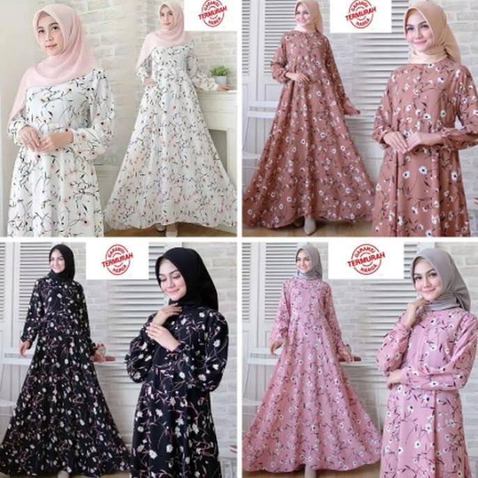 Gamis Gaul 2020 Gamis Syari Muslim Wanita Murah Baju Atasan Terbaru Dress Hijab Impor Ladangki Shopee Indonesia