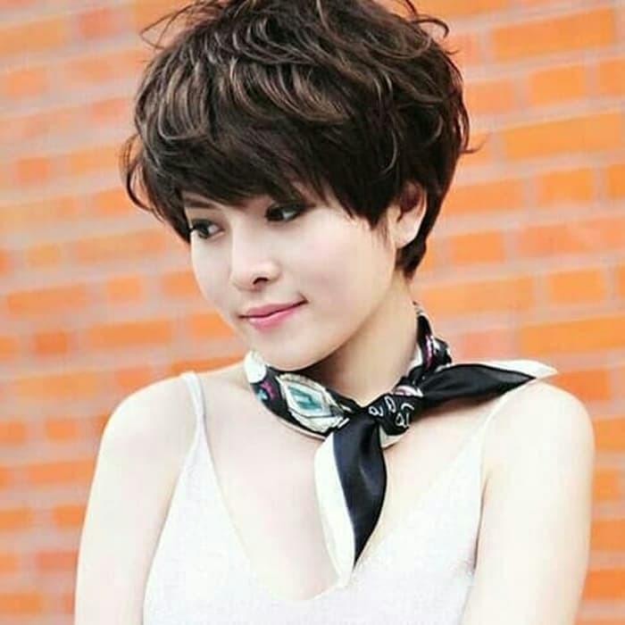 Rambut Palsu Wanita Model Rambut Pendek Ikal Shopee Indonesia