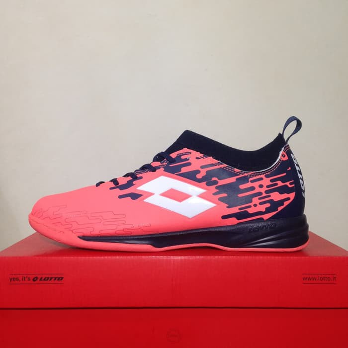 Sepatu Futsal Lotto Severa IN Black Bright Peach L01040019 Original BNIB  6641097b27