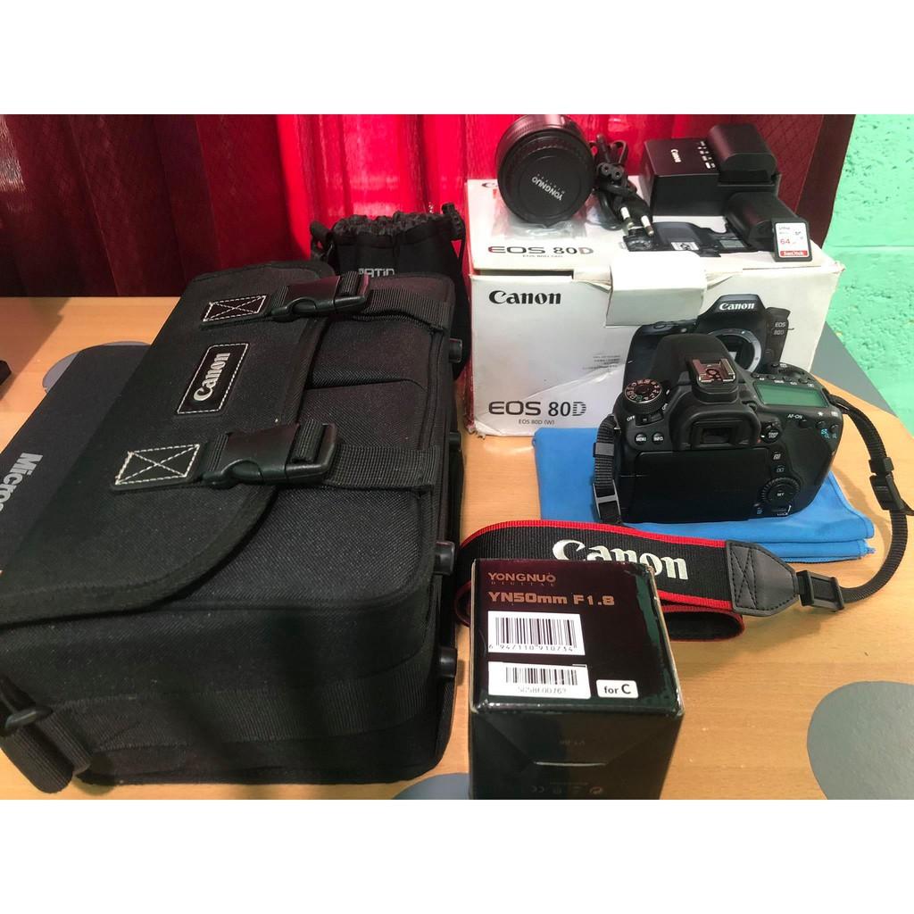 CAMERA CANON 80D CANON EOS 80D SECOND SEPERTI BARU  KAMERA CANON 80D