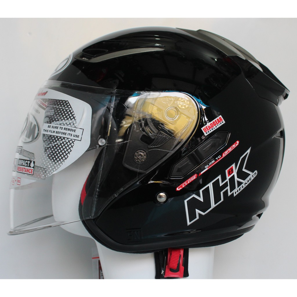 HELM GM NEW IMPREZZA SOLID 2 VISOR BLACK METALIC ORIGINAL | Shopee Indonesia
