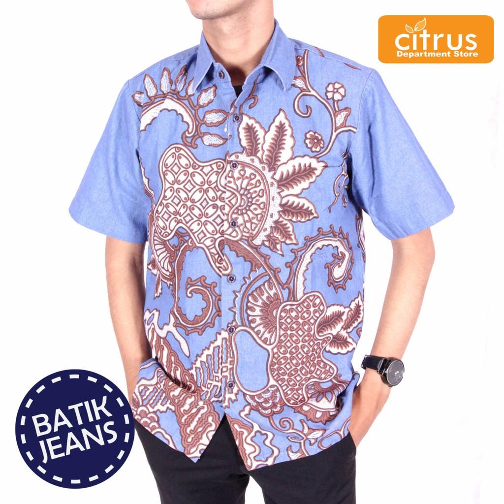 Atasan Batik Etnik Pria Daftar Harga Produk Ukm Bumn Sepatu Chanting Katun Jeans Syahbana 8751422264blj
