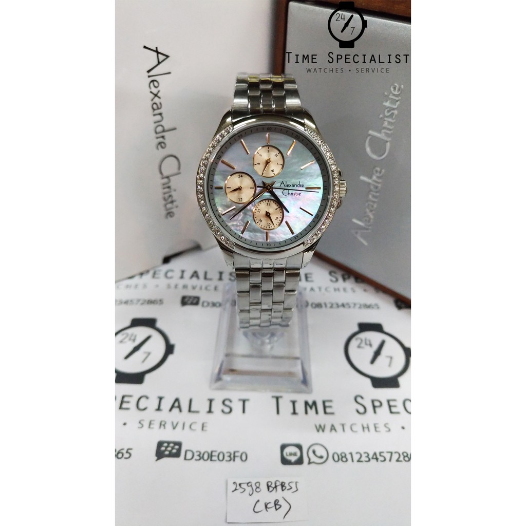 Jam Tangan Alexandre Christie AC 6451 MC Silver Plat Coklat Pria Edisi Sport Original | Shopee