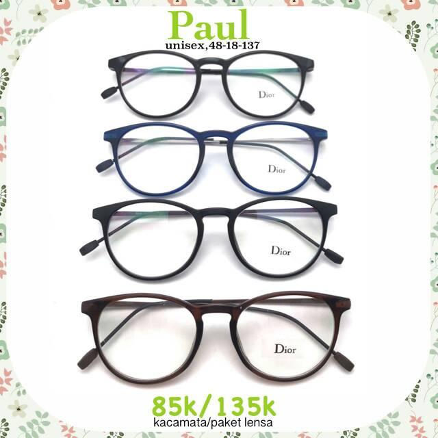 kacamata korea dinza frame kacamata minus wanita pria kacamata gratis lensa  anti radiasi  cc84c87bca