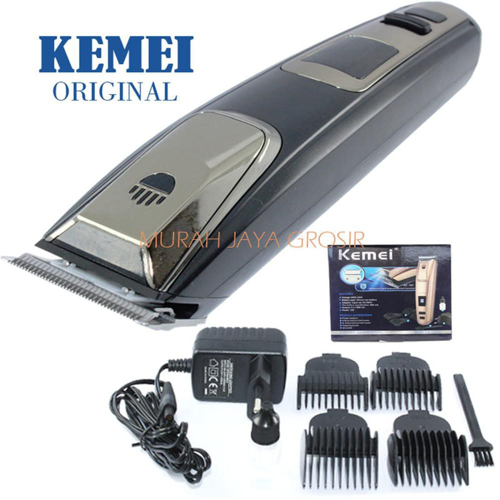 Kemei Alat Cukur Rambut Rechargeable Hair Clipper Km 809b Shopee Charger Wahl Super Taper Cordless Made In Usa Indonesia